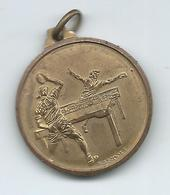 Table Tennis ( Ping Pong ) Brandoli Metal Medal Italy.- Bar Venturi - Montenero,Livorno - Tischtennis