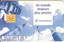 FRANCE - Monuments, Un Monde Toujours Plus Proche, Chip GEM, 04/93, Used - Phonecards