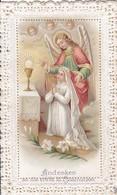 Andachtsbild - Andenken An Die Erste Hl. Kommunion - Mädchen Mit Engel - 1906 (41639) - Andachtsbilder