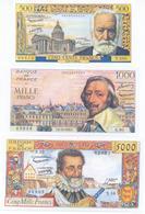 France 4 Note Set 1953 COPY - 1871-1952 Antichi Franchi Circolanti Nel XX Secolo