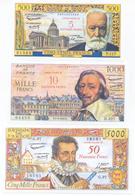 France 4 Note Set 1958 COPY - 1955-1959 Overprinted With ''Nouveaux Francs''