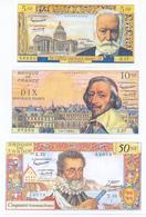 France 5 Note Set 1959 COPY - 1959-1966 Franchi Nuovi