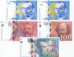 France 5 Note Set 1993 COPY - 1992-2000 Last Series