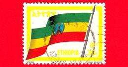 ETIOPIA - Usato - 1989 - BANDIERA - FLAG - Nationalflagge - 30 C - Etiopia
