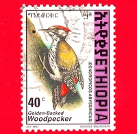 ETIOPIA - Usato - 1998 (1997) - Uccelli - Picchio - Abyssinian Woodpecker (Dendropicos Abyssinicus) - 40 - Etiopia