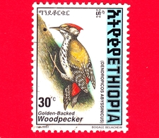 ETIOPIA - Usato - 1998 (1997) - Uccelli - Picchio - Abyssinian Woodpecker (Dendropicos Abyssinicus) - 30 - Etiopia