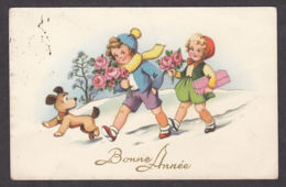 96877/ NOUVEL AN, Enfants Avec Leur Chien - Nouvel An