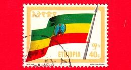 ETIOPIA - Usato - 1990 (1989) - BANDIERA - Revolutionary Flag - 40 - Etiopia