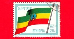 ETIOPIA - Usato - 1990 (1989) - BANDIERA - Revolutionary Flag - 25 C - Etiopia