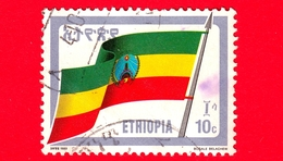 ETIOPIA - Usato - 1990 (1989) - BANDIERA - Revolutionary Flag - 10 C - Ethiopië