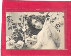 CARTE DE TENDRESSE ..  NOMBREUX CACHETS POSTAUX D'AFRIQUE DU NORD AU VERSO . 2 SCANES - Women