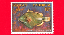 Nuovo - MNH - ETIOPIA - 1970 - Pesce Dal Mar Rosso - Orange-lined Triggerfish (Balistapus Undulatus) - 10 - Etiopia