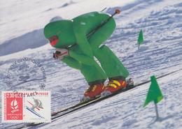 Carte  Maximum  1er  Jour   FRANCE    Jeux   Olympiques   D' ALBERTVILLE    1992 - Invierno 1992: Albertville