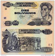 BOLIVIA       10 Bolivianos       P-243       L. 28.11.1986 (2015)       UNC  [Series J - Oberthur] - Bolivia