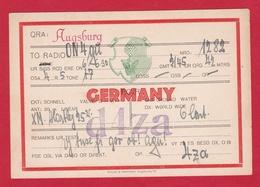 CARTE RADIO AMATEUR – D4za – GERMANY 1930 - Amateurfunk