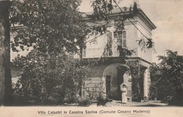 VILLA CALASTRI IN CASSINA SAVINA COMUNE CESANO MADERNO - Monza