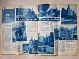 Chateau Fort D'Ecaussinnes-Lalaing 26/05/1935 Dans La Revue A-Z En Corse - Belgique
