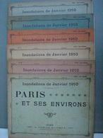 INONDATIONS JANVIER 1910 PARIS ET SES ENVIRONS TARIDE EDITEUR N°1 2 3 4 5 6 - Livres, BD, Revues