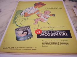 ANCIENNE PUBLICITE 21 REPAS JACQUEMAIRE 1958 - Affiches