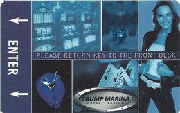 Trump Marina Casino - Atlantic City NJ - Hotel Room Key Card - No Manufacturer Mark - Hotel Keycards