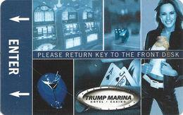 Trump Marina Casino - Atlantic City NJ - Hotel Room Key Card - Innovative Manufacturer Mark - Hotel Keycards