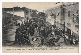 CPA Turquie Mersine Grande Route Du Chemin De Fer Et Passage Amiral Français Edit K Papadopoulos Et Fils / Lévy Fils Cie - Turquie