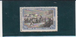 France WWI Automobile Club 25c Blue & Black Vignette - Unclassified