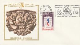 FLAMME POSTE AUX ARMÉES - EXPO. PHILAT. SCOLAIRE FRANCO ALLEMANDE - L'HISTOIRE PAR LES TIMBRES 12.73 - Marcophilie (Lettres)