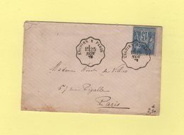 Convoyeur Enghien A Paris - 25 Nov 1878 - Type Sage - Marcophilie (Lettres)