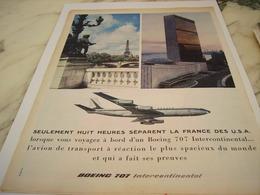 ANCIENNE PUBLICITE AVION BOEING 707  AIR FRANCE   1960 - Advertisements