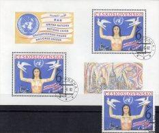 UNO Abrüstung 1982 CSSR 2666+Block 48 O 17€ Emblem Taube Birds M/s Art Bloc UN-Symbol Sheet Bf Tschechoslowakei CSR - Tchécoslovaquie