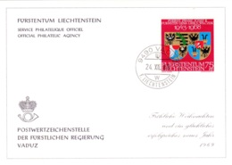 1968  Neujahrswünsche - Dienstpost