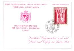 1975  Neujahrswünsche - Dienstpost