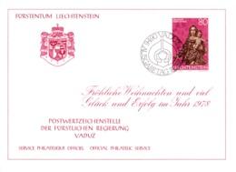 1977  Neujahrswünsche - Dienstpost