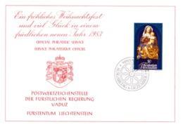 1982  Neujahrswünsche - Dienstpost