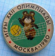 USSR / Badge / Soviet Union / Olympic Summer Games 80. Volleyball. Olympic Teddy. - Voleibol