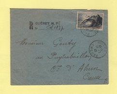 Gueret - Creuse - Recommande De Fortune - 19-7-1947 - Marcofilia (sobres)