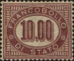 Italy Scott #O8, 1875, Hinged - Dienstpost