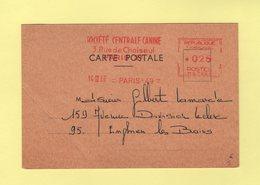 EMA - Machine MG - Societe Centrale Canine - Declaration De Naissance - 1966 - Theme Chien - Poststempel (Briefe)