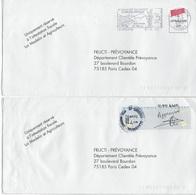"""Enveloppes """"curiosités"""" Affranchissements 2002. - Postmark Collection (Covers)"""