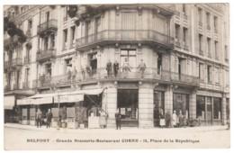 CPA Note De Frais  90- Belfort Grande Brasserie-Restaurant CORNE Place De La République. Edit: Sans - Belfort - Stad