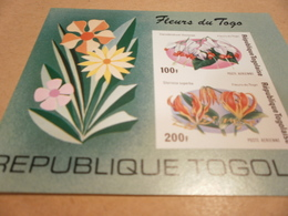Miniature Sheet  1975. FLOWERS OF TOGO - Togo (1960-...)