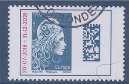 = Marianne L'Engagée 2018 Europe Surchargée N°5270 Timbre Oblitéré Type Gommé 20-7-2018 -- 31-12-2018 - 2018-... Marianne L'Engagée