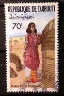 Djibouti, 1993- Jeune Fille Nomade. Used - Gibuti (1977-...)