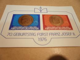 Miniature Sheet Liechtenstein -1976 - 70th Anniversary Of Prince Franz Joseph II Imperf - Liechtenstein