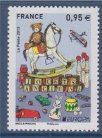 = Europa 2015, Jouets Anciens, Neuf 0.95€ N°4953 Cubes, Avion, Cheval à Bascule, Quilles, Billes, Ours - France