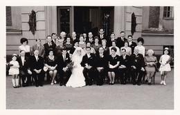 AK Foto Hochzeitsgesellschaft Brautpaar - 1964 (41661) - Hochzeiten