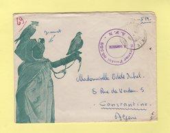 Postes Aux Armees - AFN - Secteur Postal 86.558 - Envelopep Illustree Faucons - Algerien (1924-1962)