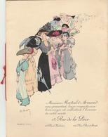 Catalogue De Modes MARTIAL & ARMAND (8p.) Paris, 13 Rue De La Paix. (superbement Illustré.) Graveur Dewambez. - Publicités