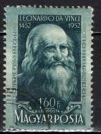 UNGHERIA - 1952 - LEONARDO DA VINCI - USATO - Posta Aerea